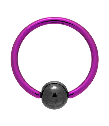 Blue Banana Coloured Titanium 1.6mm BCR (Purple)