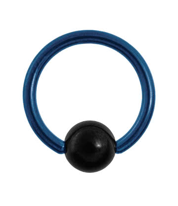 Blue Banana Coloured Titanium 1.6mm BCR (Blue)