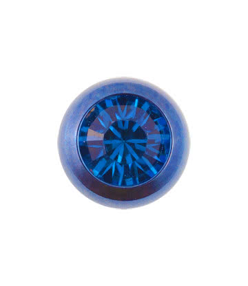 Blue Banana Coloured Titanium 5mm Jewelled Ball (Capri/Blue)