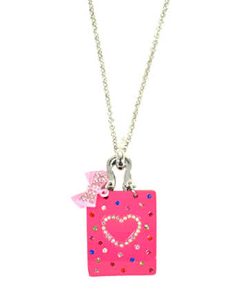 Blue Banana Handbag Necklace (Pink)