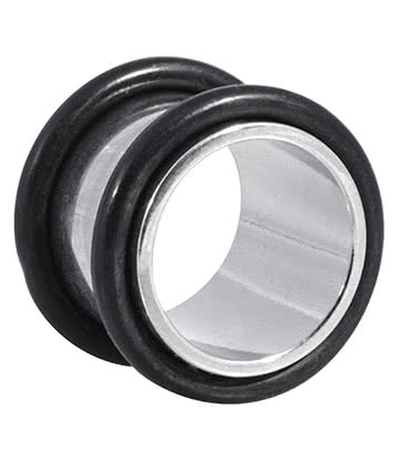 Blue Banana Surgical Steel Flesh Tunnel 3-24mm (Black)