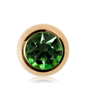 Blue Banana Plasma Gold 5mm Jewelled Ball (Peridot)