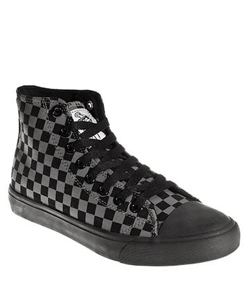 Bleeding Heart Checkerboard Hi Tops (Black/Grey)