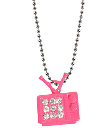 Blue Banana Pink TV With Crystal Style Collier