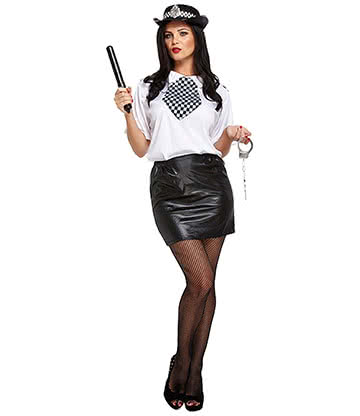 WPC Sexy 6 Piece Fancy Dress Costume