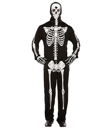 Blue Banana Halloween Skeleton Fancy Dress Costume (Black)