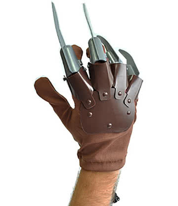 Halloween Claw Hand Horror Gloves (Brown)