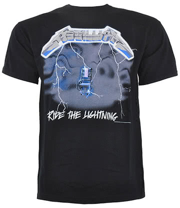 Official Metallica Ride The Lightning Print T Shirt (Black)