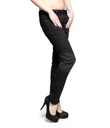 Blue Banana Skelly Hand Skinny Fit Stretch Jeans (Black/White)