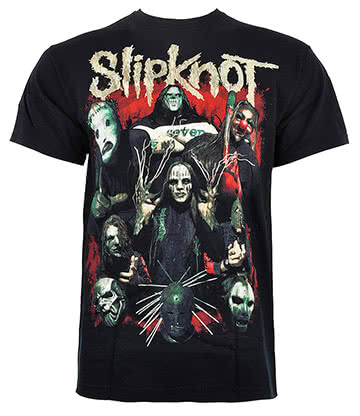 Official Slipknot Come Play Dying Print T Shirt (Black)