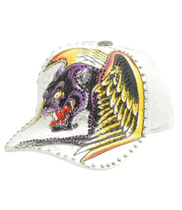 Blue Banana Winged Panther Cap