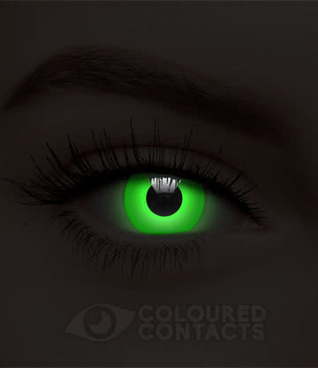 UV i-Glow 90 Day Coloured Contact Lenses (Green)