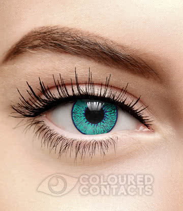 Mystic 90 Day Coloured Contact Lenses (Aqua Blue)