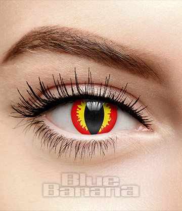 Dragon Eye 30 Day Coloured Contact Lenses (Red/Yellow)