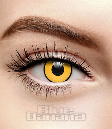 Mad Hatter 90 Day Coloured Contact Lenses (Yellow)