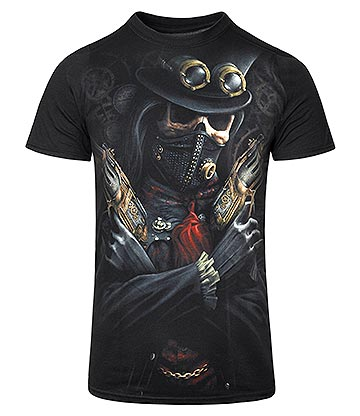 Spiral Direct Steampunk Bandit T Shirt (Black)
