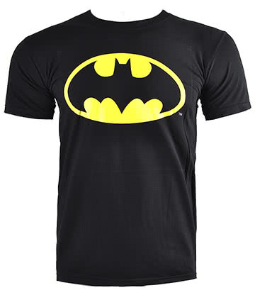 DC Comics Batman Shield T Shirt (Noir)