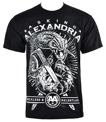 Camiseta serpiente de Asking Alexandria (Negro)