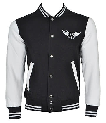 Official Black Veil Brides Gate Varsity Jacket (Black/White)