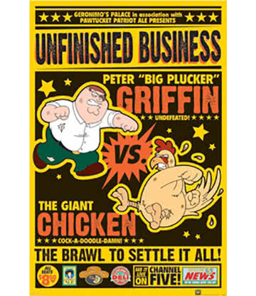 Family Guy Chicken Fight Poster - Affiche Humour