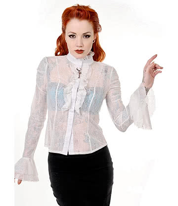 Banned Shirt Dentelle (Blanc)