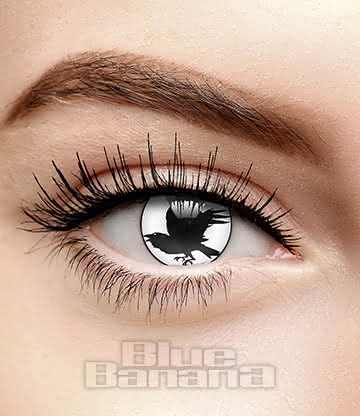 Nevermore 90 Day Coloured Contact Lenses (Black/White)