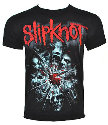 Official Slipknot Shattered T Shirt (Black)
