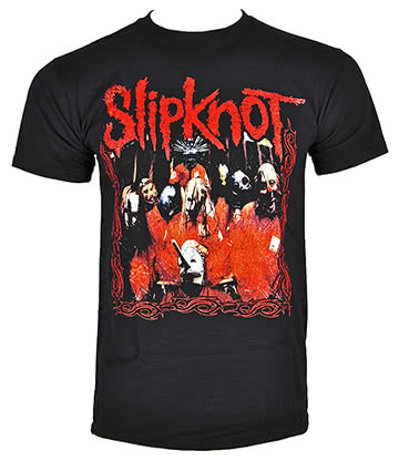 Official Slipknot Band Frame T Shirt (Black)