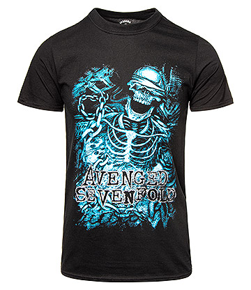 Official Avenged Sevenfold Chained Skeleton T Shirt (Black)