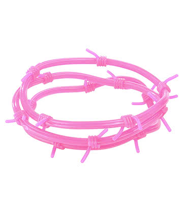 Pack Of 3 Barbed Wire Gummy Bracelets Gomme (Rose)