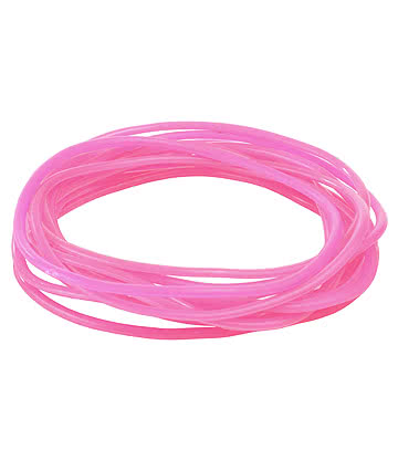 Pack Of 12 Gummy Bracelets (Pink)