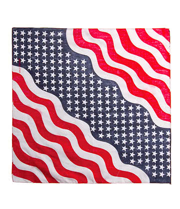 Blue Banana USA Flag Bandana (Rot/Weiß/Blue)