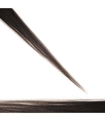 Real Hair Extension 20 Inch Length With 1 Clip (Brunette)