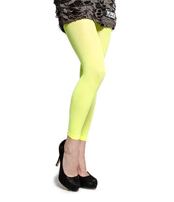 Blue Banana UV Footless Tights (Green)