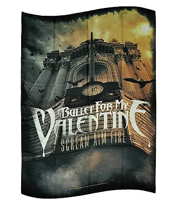 Official Bullet For My Valentine Scream Aim Fire Flag (Multicoloured)