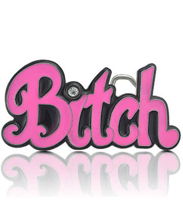 Blue Banana Bitch Belt Buckle (Pink)