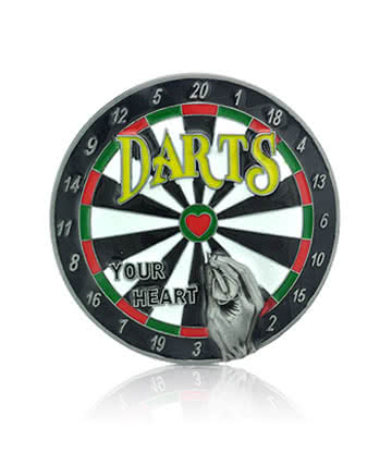 Blue Banana Dartboard Belt Buckle (Multi-Coloured)