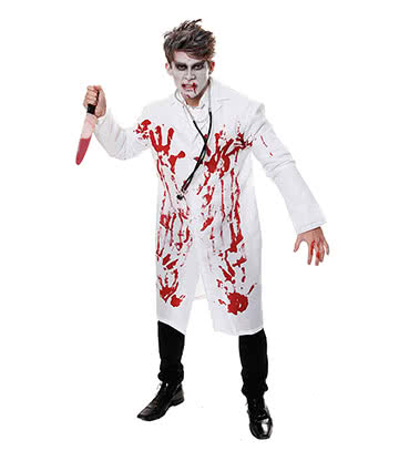 Bloody Doctor Fancy Dress Costume (White)