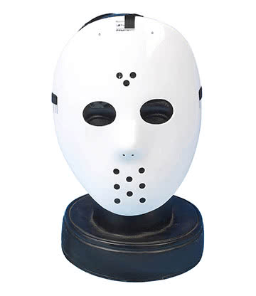 Blue Banana Halloween Hockey Mask (White)