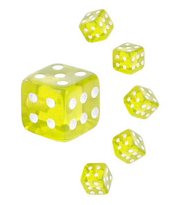 Blue Banana Acrylic UV 5mm Dice Add On (Yellow)