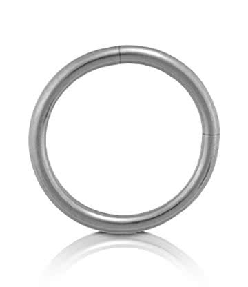 Blue Banana Surgical Steel 1.2mm Segment Ring (Silver)