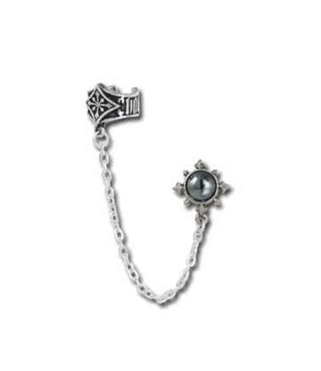Alchemy Gothic Chaosium Cuff Stud Earring (Single)