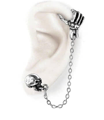Alchemy Gothic Mortal Remains Boucle D'Oreille Ear Cuff