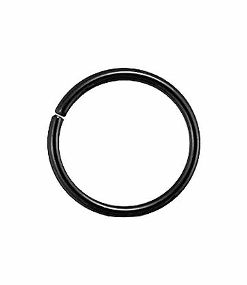 Blue Banana Surgical Steel 1.2mm Seamless Ring (Black)