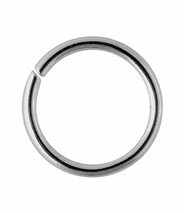 Blue Banana Surgical Steel 1.2mm Seamless Ring (Silver)