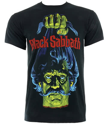 Official Black Sabbath Head T Shirt (Black)