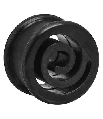 Blue Banana Silicone Spiral Flesh Tunnel 6-22mm (Black)