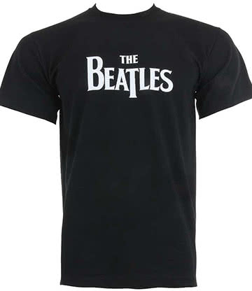 Official The Beatles Logo T Shirt (Black)