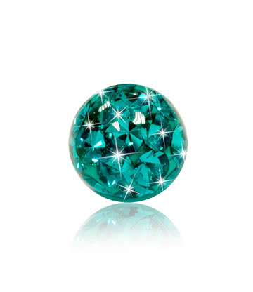 Crystal 3mm Glitter Ball (Zircon)