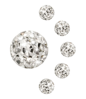 Crystal 3mm Glitter Ball (Crystal)